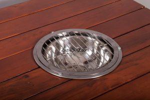 Вставка BBQ кругла на вуглях для столу
